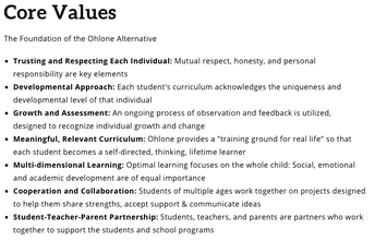 Core Values Committee