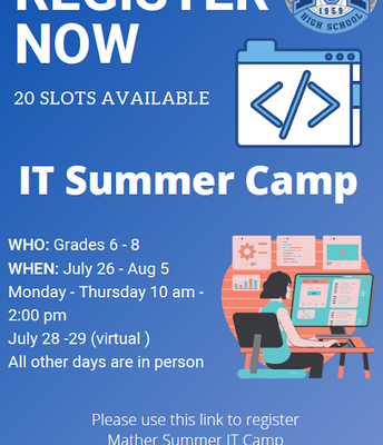 IT Camp for 6th - 8th grade