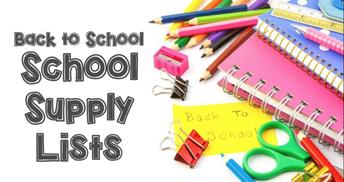 School Supply Lists 2021-2022