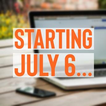 July 6 online enrollment