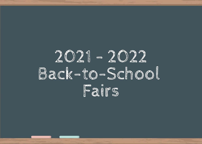 back to school fair chalk board image