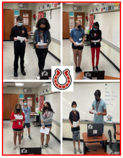 8TH Grade Scholars Reading Morning Announcements Live