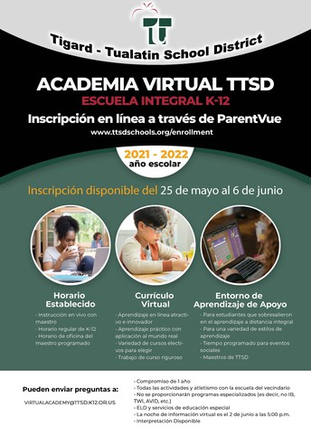 Virtual Academy Enrollment Date Extended