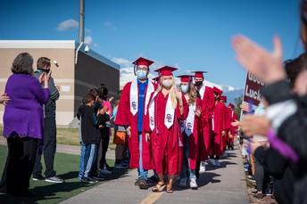 Zone Graduates Take Senior Walk