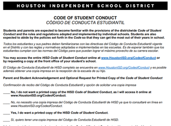 Form #2:  Code of Conduct Form