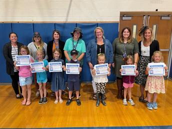 Grade K - 2 Panther Pride Award Recipients