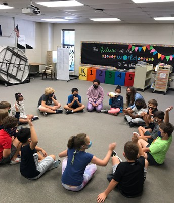 STEM Club students met this week for the first time and engaged in important team building activities.