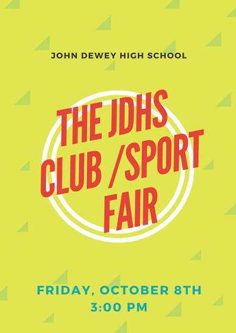 JDHS After School Clubs & JDHS Club Fair