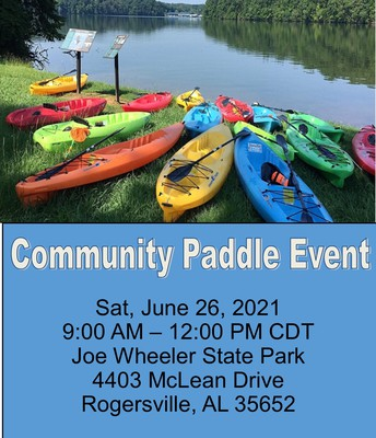 Tennesee RiverTown: Shoals Community Paddle