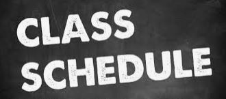 Need Your Class Schedule?