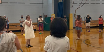 Staff Orientation Days:  preparing desks, reconnecting with peers, and school visits from the Superintendent!