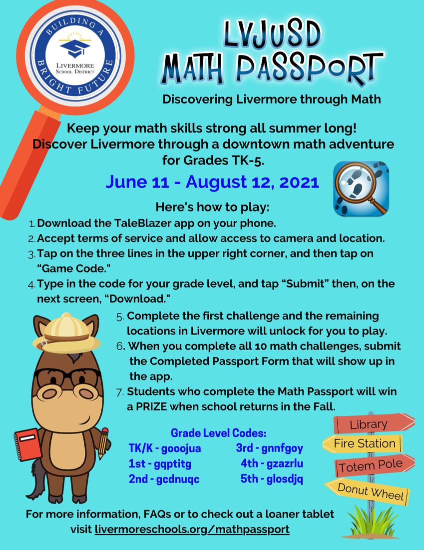 Math Passport Flyer
