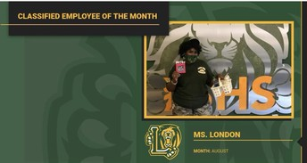 August Classified Employee of the Month