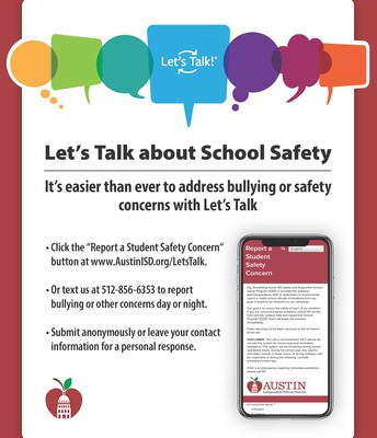 Let's Talk About School Safety Flyer - English