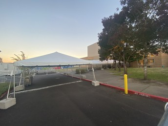 Tents In Place for Lunches