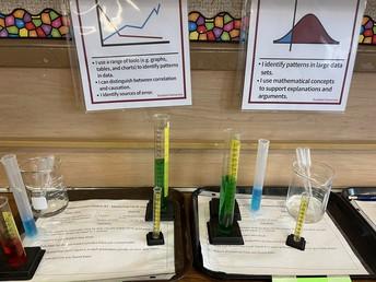 Science Lab stations in Mrs. Jarratt's class