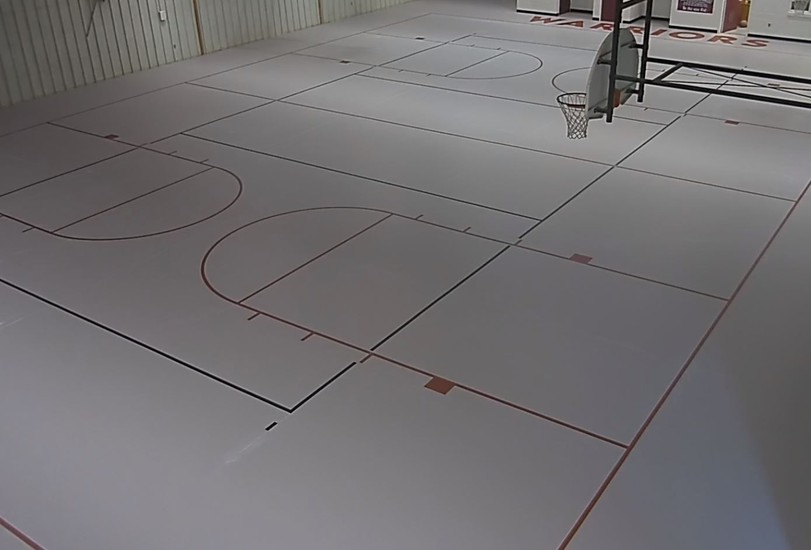 Finished gym floor at West Point Elementary