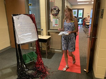 Mrs. Reed Walks the Red Carpet