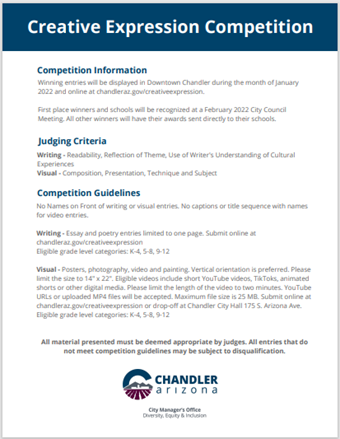 Creative Expression Competition