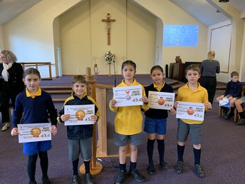 Cross Country Year 4 place winners