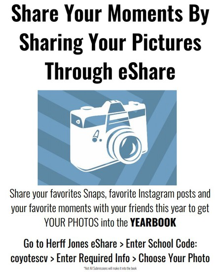 Click here to submit photos to yearbook