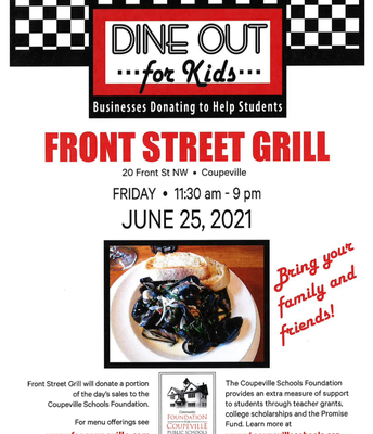 Community Foundation for Coupeville Public School's Dine Out for Kids @ Front Street Grill