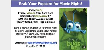 Movie Night in Tacony Creek Park