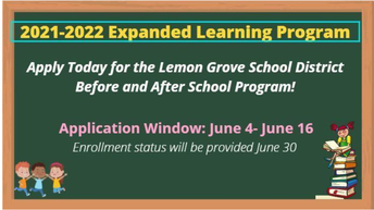 Extended Day Program 2021-2022 Applications Open