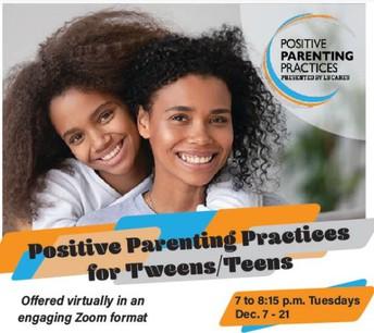 Positive Parenting Practices for Tweens/Teens
