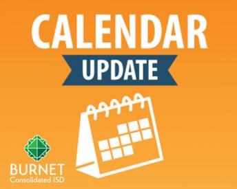 BCISD Updated School Calendar Reminder