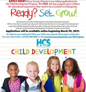 2021-2022 Registration Child Development