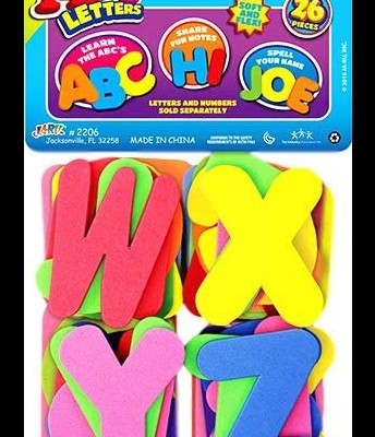 Foam Letters, alphabet flash cards, or magnetic letters (Literacy)