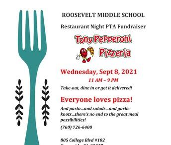 Restaurant Night PTA Fundraiser