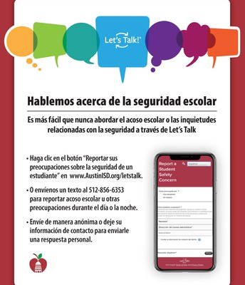 Let's Talk About School Safety Flyer - Spanish