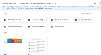 Student & Family Resources K-5