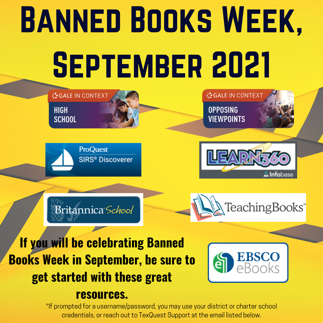 image of banned books week flyer with links to resources