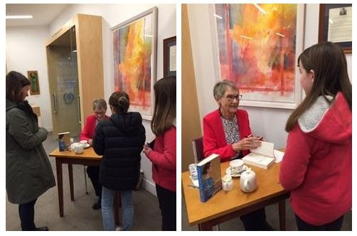 Maeva and Fionuala attending the book signing of Fleur Beals latest novel 'The Calling'.