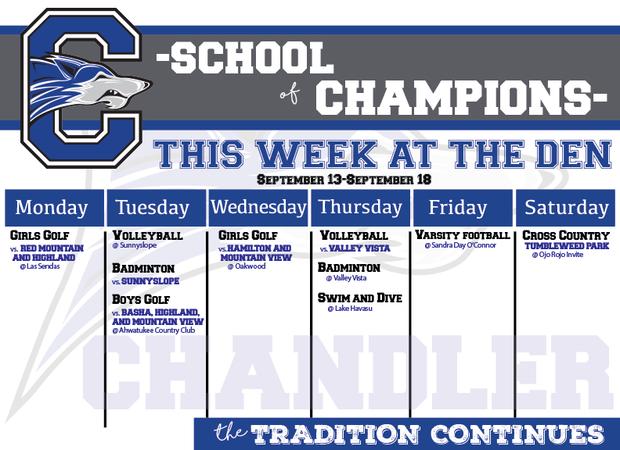 This Week's Athletic Schedule