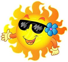 smiling sun with sunglasses and flower