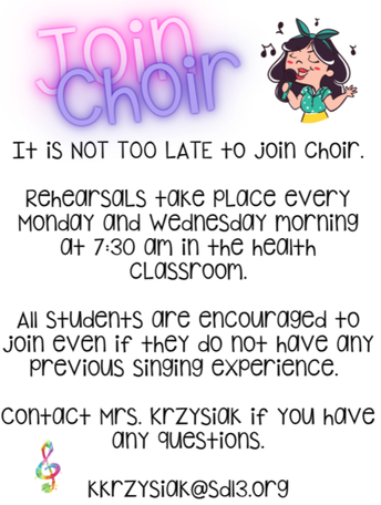 You Can Still Sign Up for Choir Club
