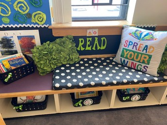 and a cozy place to read in kindergarten!