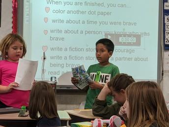 3rd Graders sharing stories!