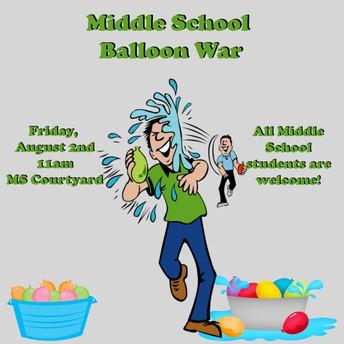 Middle School Balloon War