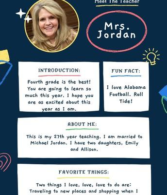 Mrs. Jordan, 4th Grade