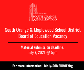 BOE Vacancy:  Material Submission Deadline, July 7