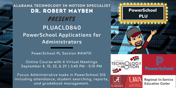 PLUACLD840 PowerSchool Applications for Administrators (PSPL Section #414731)