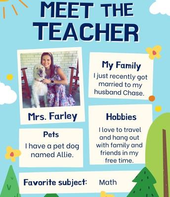Mrs. Farley, 1st Grade