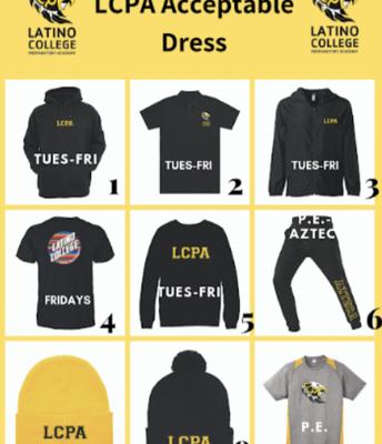 LCPA School Uniform Information/ informacion de uniformes