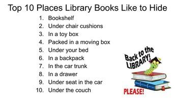Please Return All Library Books