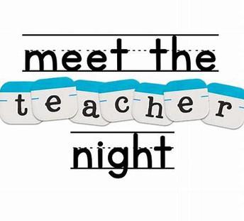 Meet the Teacher Night Open House Thank you!